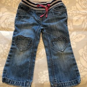 Mini Boden Heart patch jeans